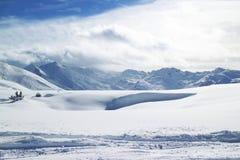 Paysage alpestre de l'hiver Photo libre de droits