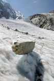 Paysage alpin avec les montagnes et le glacier Photo stock
