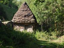 Paysage alpin d'été avec les champs et les vallées verts, son, la Transylvanie, Roumanie, l'Europe Photographie stock