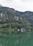 Paysage alpin d'automne de Mondsee de lac, Autriche Images libres de droits