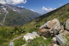Paysage alpin de montagne à l'été Alpes autrichiens photos libres de droits