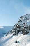 Paysage alpin de montagne d'Alpes chez Soelden Images libres de droits