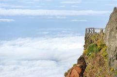 Paysage alpin en île de la Madère Image libre de droits