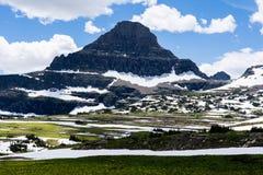 Paysage alpin en parc national de glacier, Etats-Unis images libres de droits