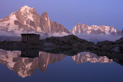 Paysage alpin magique Images libres de droits