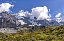 Paysage alpin - Monch photo libre de droits