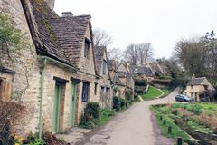 Paysage anglais de la communauté de village rural Images stock