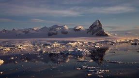 Paysage antarctique Photo stock