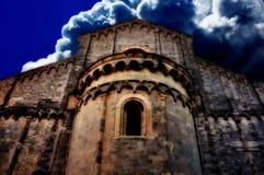 Paysage antique d'église Photo stock
