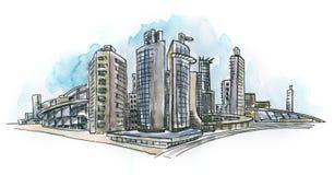 Paysage architectural Photo libre de droits