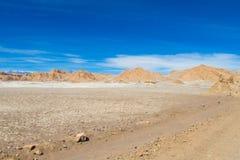Paysage aride de désert d'Atacama image stock