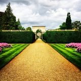 Paysage ashby de jardins de château Photographie stock libre de droits