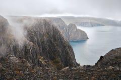 Paysage au cap du nord images stock