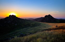 Paysage au coucher du soleil/au lever de soleil photo libre de droits