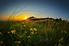Paysage au coucher du soleil/au lever de soleil photo stock