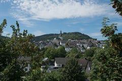 Paysage au germand Rothaargebirge photographie stock libre de droits