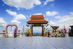 Paysage au wat Phra ce Doi Kham Photos libres de droits