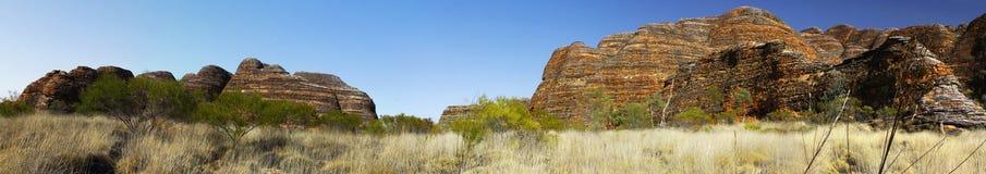 Paysage australien avec la configuration géologique de Rolling Hills. Photographie stock libre de droits
