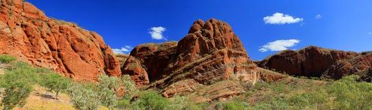 Paysage australien panoramique avec la configuration géologique du rollin Photo libre de droits