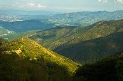 Paysage autour de montagne de Troglav à la fin d'été Images stock