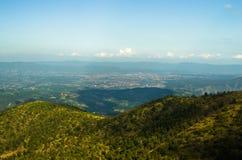 Paysage autour de montagne de Troglav à la fin d'été Image stock