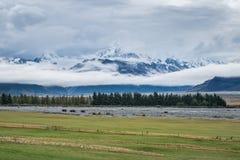 Paysage autour de Mt Parc national de cuisinier/Aoraki, Nouvelle-Zélande Photos stock