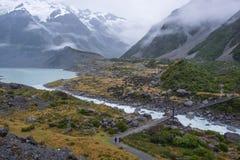 Paysage autour de Mt Parc national de cuisinier/Aoraki, Nouvelle-Zélande Photos libres de droits