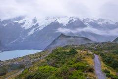 Paysage autour de Mt Parc national de cuisinier/Aoraki, Nouvelle-Zélande Image stock