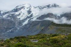Paysage autour de Mt Parc national de cuisinier/Aoraki, Nouvelle-Zélande Image libre de droits