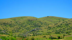 Paysage avec des champs et des prés en Turquie Photographie stock