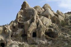 Paysage avec des roches dans Kappadokia, Turquie Photo libre de droits