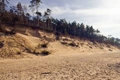 Paysage avec des vues de la mer baltique Photographie stock libre de droits