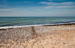 Paysage avec des vues de la mer baltique Image stock