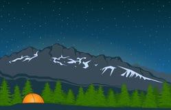 Paysage avec la crête de montagne 4 illustration de vecteur