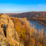 Paysage avec la rivière du sud d'insecte Images stock