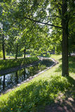 Paysage avec la rivière en parc Image libre de droits