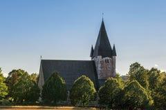 Paysage avec la vieille église Photographie stock libre de droits