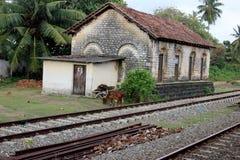 Paysage avec le chemin de fer Photos stock