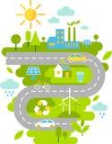 Paysage avec le concept d'écologie Images libres de droits