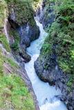 Paysage avec le courant de rivière images libres de droits