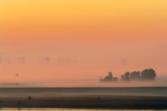 Paysage avec le matin d'automne Photographie stock libre de droits