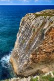 paysage avec le rivage d'océan aux Asturies, Espagne Photographie stock libre de droits
