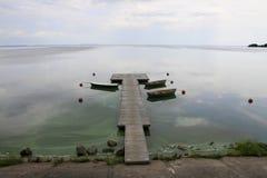 Paysage avec les bateaux Images libres de droits