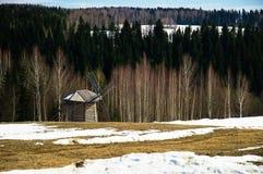 Paysage avec un moulin à vent Photo stock