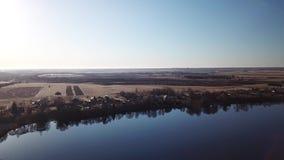 Paysage blanc de ressort de lac clips vidéos