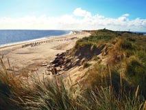 Paysage côtier au point Spurn, Yorkshire est, Angleterre images stock