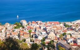 Paysage côtier d'été de Zakynthos Image stock
