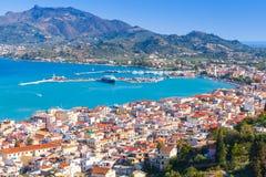 Paysage côtier d'île de Zakynthos Photo libre de droits