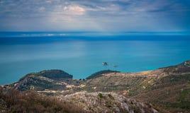 Paysage côtier de la Mer Adriatique Photographie stock