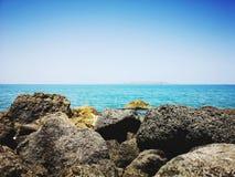 Paysage côtier de vue images stock